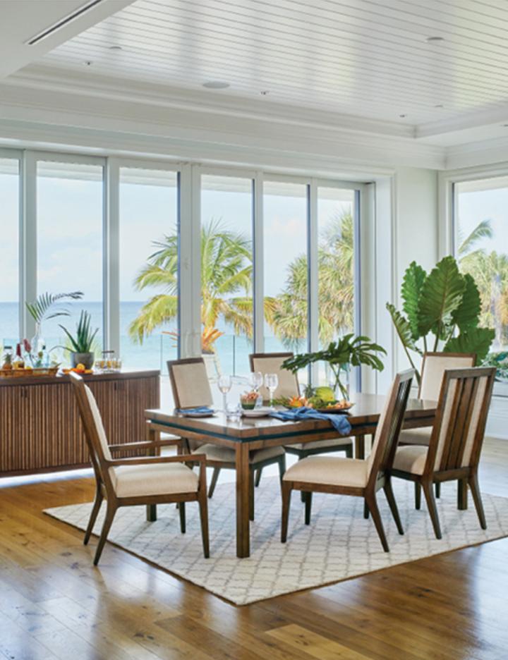 Island Estate Dining Room Scene